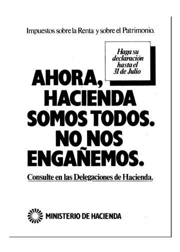 Un anuncio de Hacienda publicado en El País en julio de 1978.