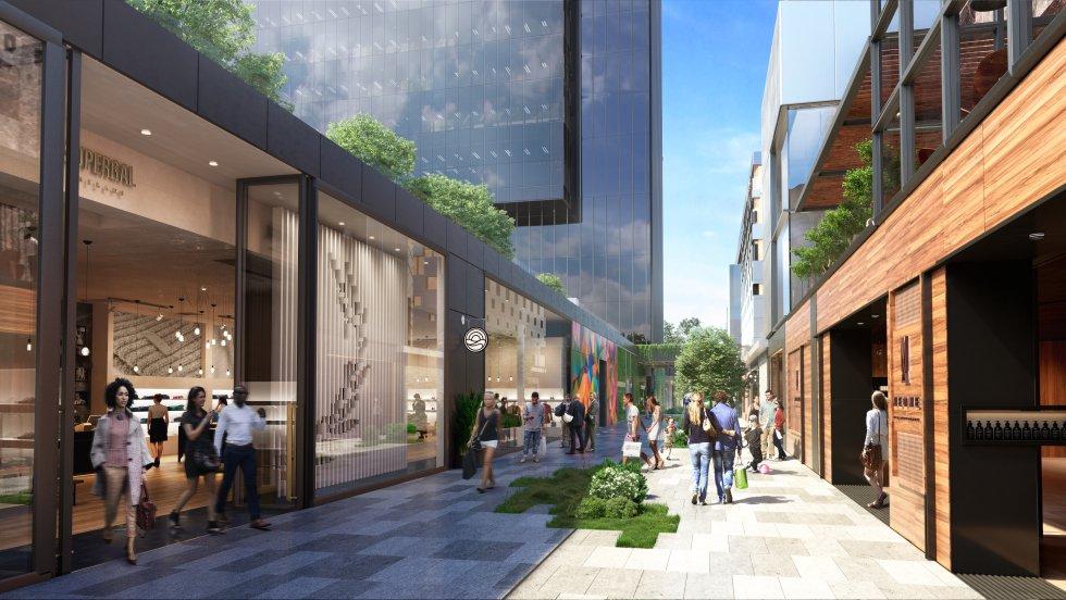 Fotos as ser la zona comercial de la torre caleido - Aguirre newman arquitectura ...