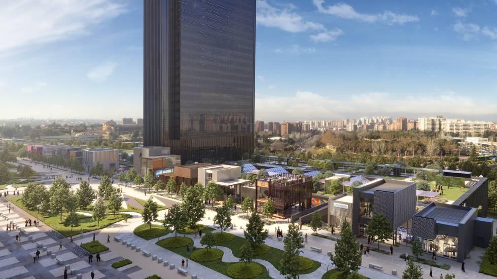 5669126d7b6024 Así será la zona de tiendas y restaurantes de la quinta torre de la  Castellana en