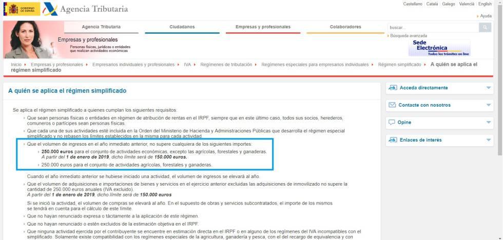 Hacienda pone fecha en su web al cambio de límites en los módulos de autónomos