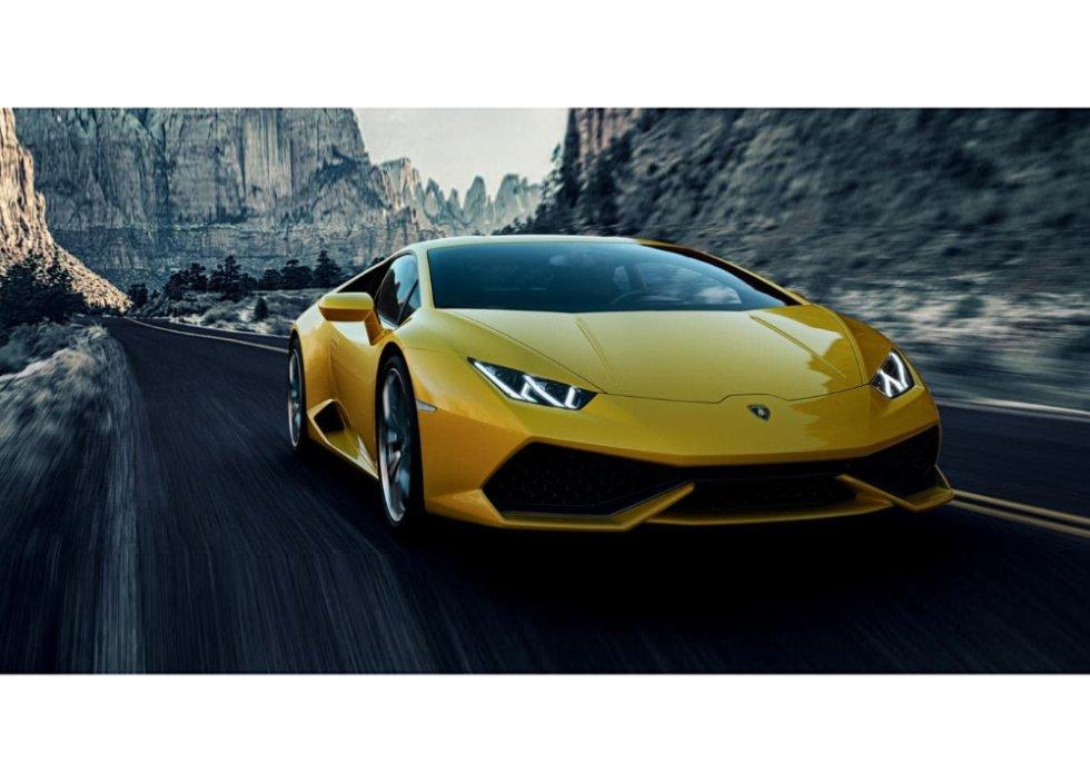 Seis de los ocho modelos de Lamborghini son huracanes, disponibles en amarillo, verde, naranja, rojo y otros colores vivos. El modelo tiene la aceleración de un motor aspirado V10, con la tracción permanente en las cuatro ruedas y el cambio de siete velocidades. Cuenta también con la plataforma Inerziale Lamborghini, que detecta de forma directa todos los movimientos de la carrocería y ajusta de inmediato al coche. El precio oscila sobre los 230.000 euros.
