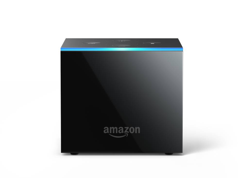 Frontal del Amazon Fire TV Cube