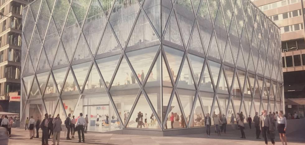 Madrid estrenar edificio de norman foster en la plaza de for Oficinas barclays madrid