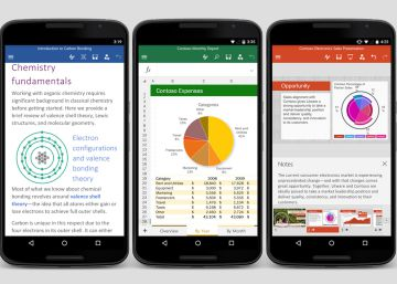 Novedades en Word, PowerPoint y Outlook para Android