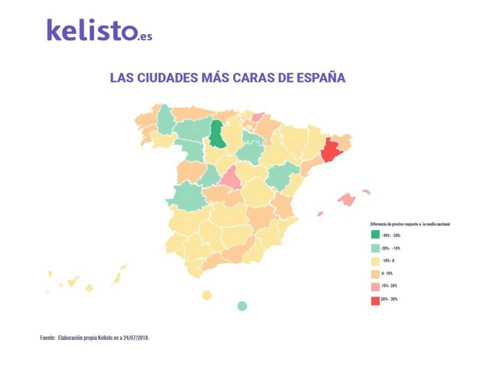 Localidades Pueblos De Madrid Mapa.Esta Es La Lista De Ciudades Espanolas Mas Caras Madrid