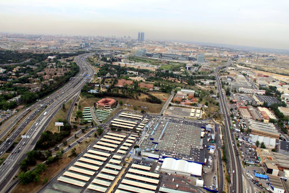 Vista aérea del tejido empresarial de Alcobendas