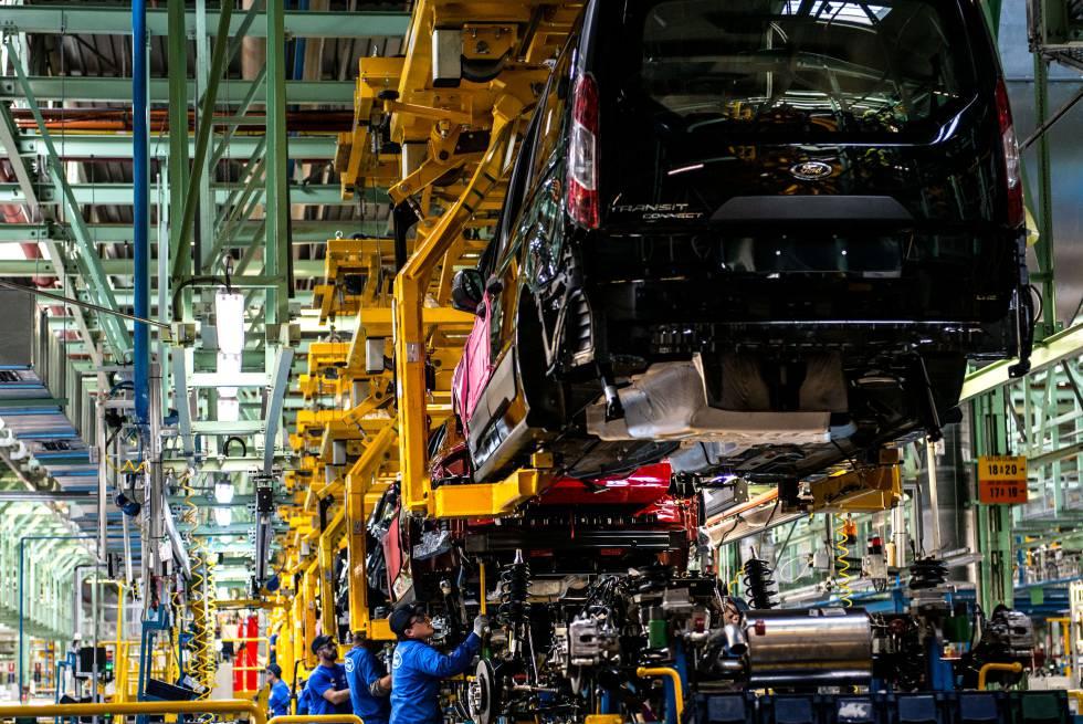 Interior de la fábrica que Ford tiene en Almussafes, Valencia.