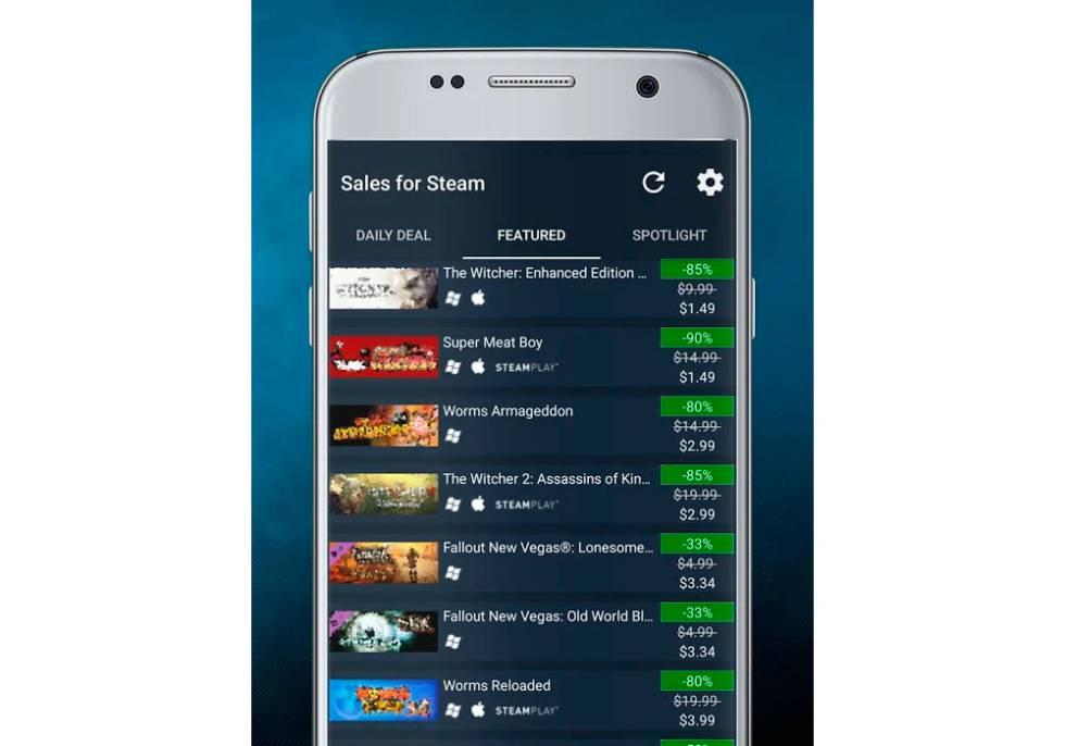 48f41a6453dca Esta app está especializada en mostrar las mejores ofertas de juegos en  Steam