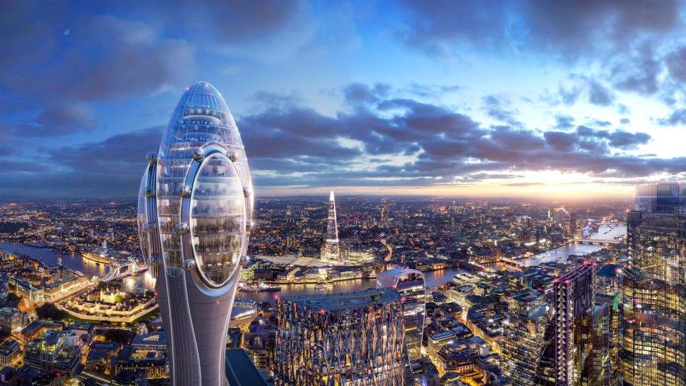 The Tulip (El Tulipán), el nuevo rascacielos que proyecta el famoso arquitecto Norman Foster, pretende ser el edificio más alto del 'skyline' londiense, con 305,3 metros de altura. El edificio, que podría empezar a construirse en 2020 para estar terminado en 2025, persigue ser una de las principales atracciones culturales y turísticas de Londres.