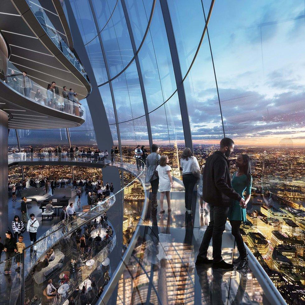 La City of London Corporation autorizó el pasado 13 de noviembre este proyecto, de J. Safra Group y Foster+Partners. Tendrá 12 plantas y vistas de 360 grados sobre la capital británica.