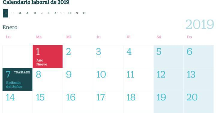 Calendario Laboral 2020 Madrid Capital.El Calendario Laboral De 2019 Tendra 14 Festivos Ocho