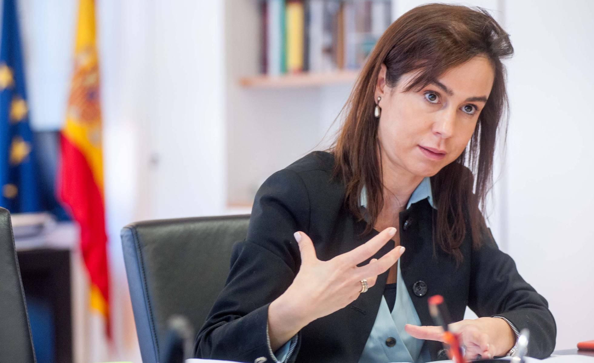 Isabel Pardo de Vera, durante un momento de la entrevista, en su despacho de Madrid.