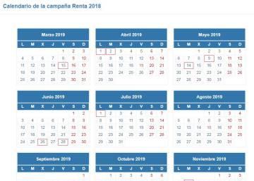 Calendario Bolsa Familia 2019 Final 9.Calendario De La Declaracion De La Renta 2018 19 Mi Dinero