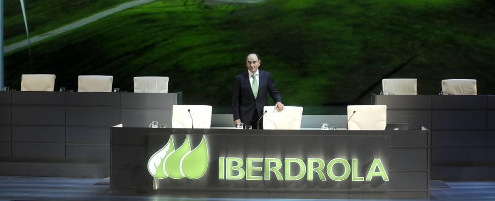 Ignacio Sánchez Galán, presidente de Iberdrola, el viernes, en la junta general de accionistas de la compañía, celebrada en Bilbao.
