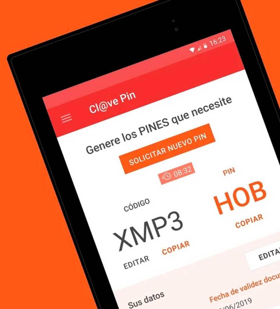 a8bc42677a1 La app de Clave PIN nos muestra los códigos de acceso a la Agencia  Tributaria