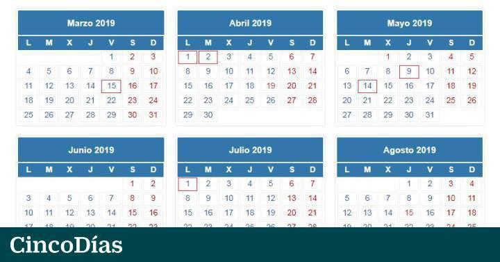 Aeat Calendario Fiscal 2020.Calendario De La Declaracion De La Renta 2018 19 Mi Dinero