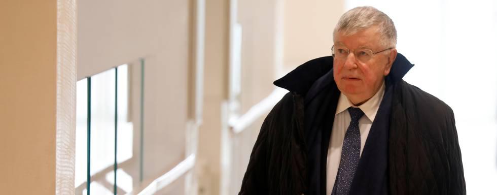 Didier Lombard, ex consejero delegado de la empresa, a su entrada al juicio el pasado lunes.