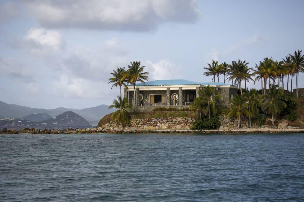 Otra vista de la isla de Epstein.