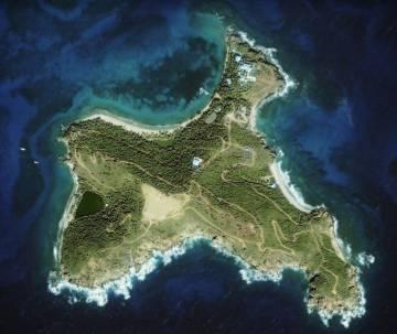 Vista aérea de Little St. James.