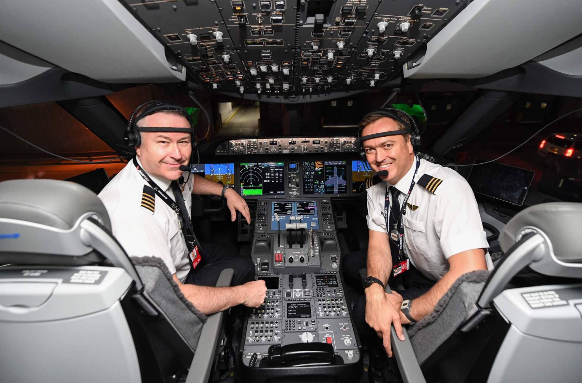 Comandante y copiloto del vuelo de Qantas.