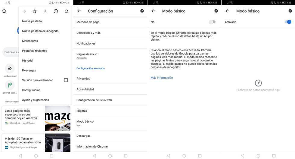 Cómo ahorrar datos móviles cuando navegas en internet desde tu móvil