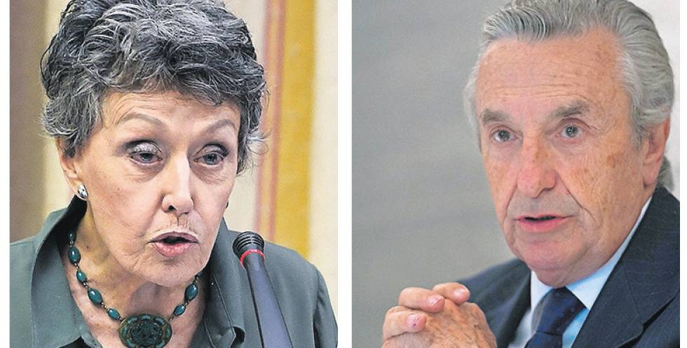 The sole administrator of RTVE, Rosa María Mateo, and José María Marín Quemada, president of the CNMC.