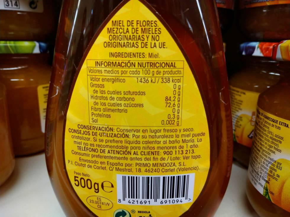 Etiquetado miel España