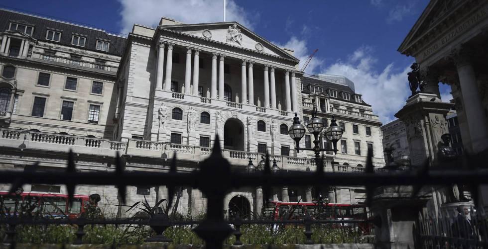 Fachada del Banco de Inglaterra.