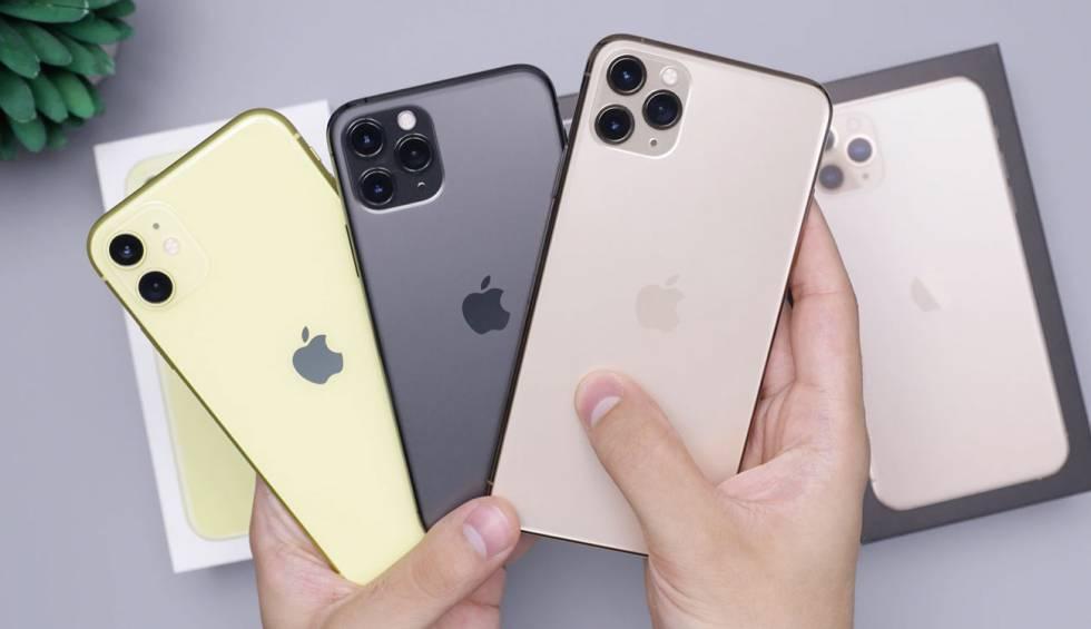Gama de iPhone 11 de Apple.