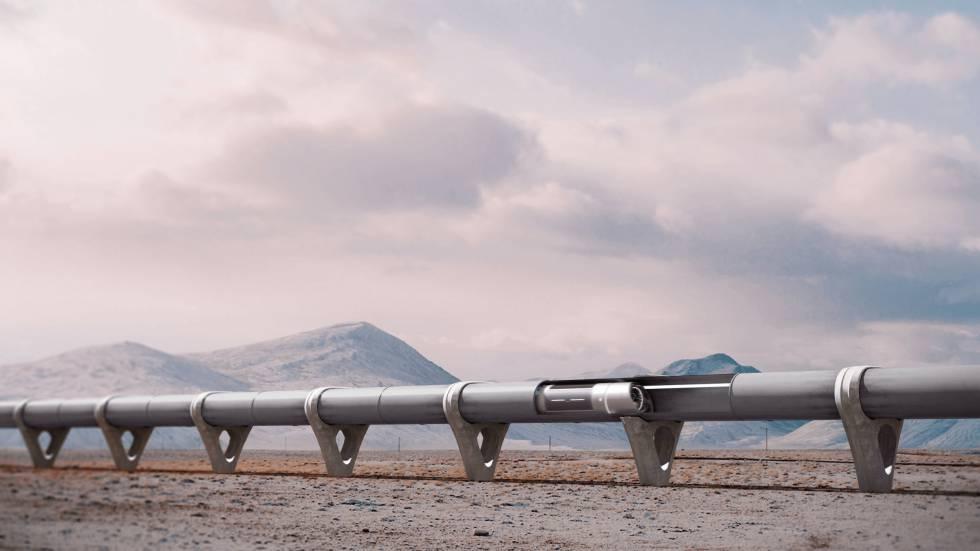 Un desarrollo de hyperloop obtenido de la página web de Zeleros.