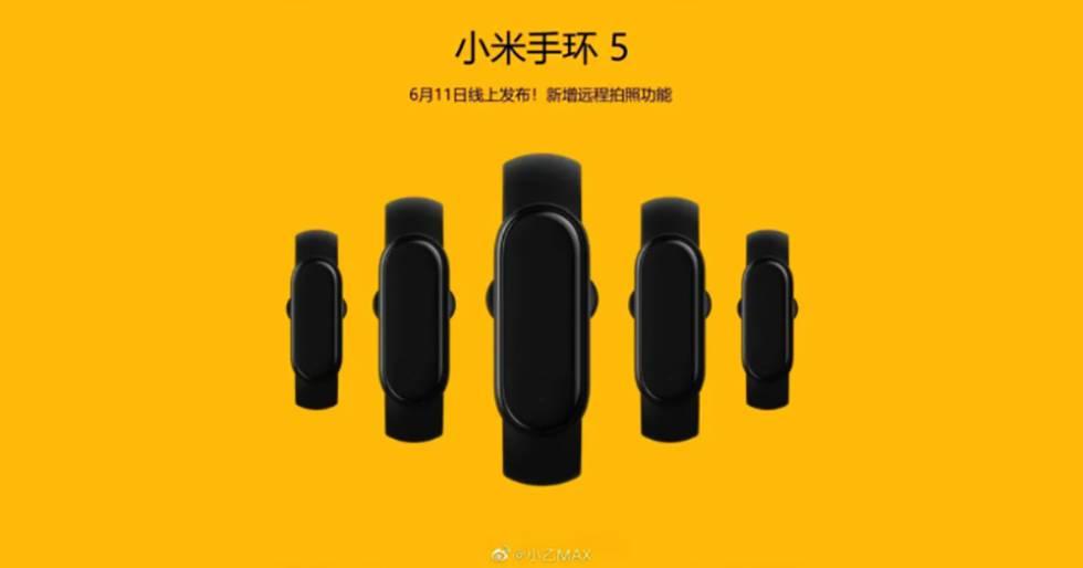 Presentación de la Xiaomi Mi Band 5 el 11 de junio.
