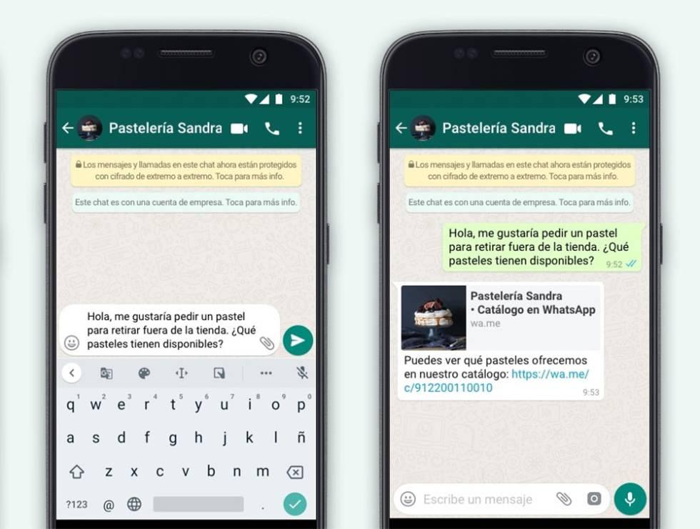 WhatsApp Business para conectar con los clientes.