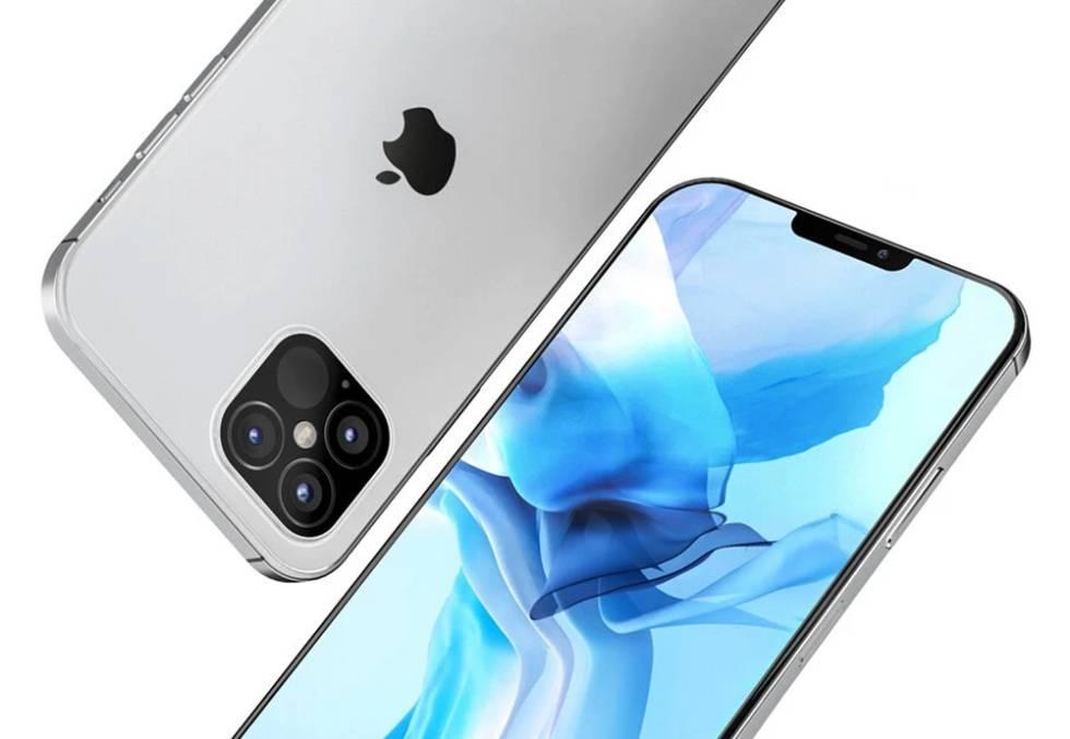 Diseño de concepto de un iPhone 12 Pro Max.