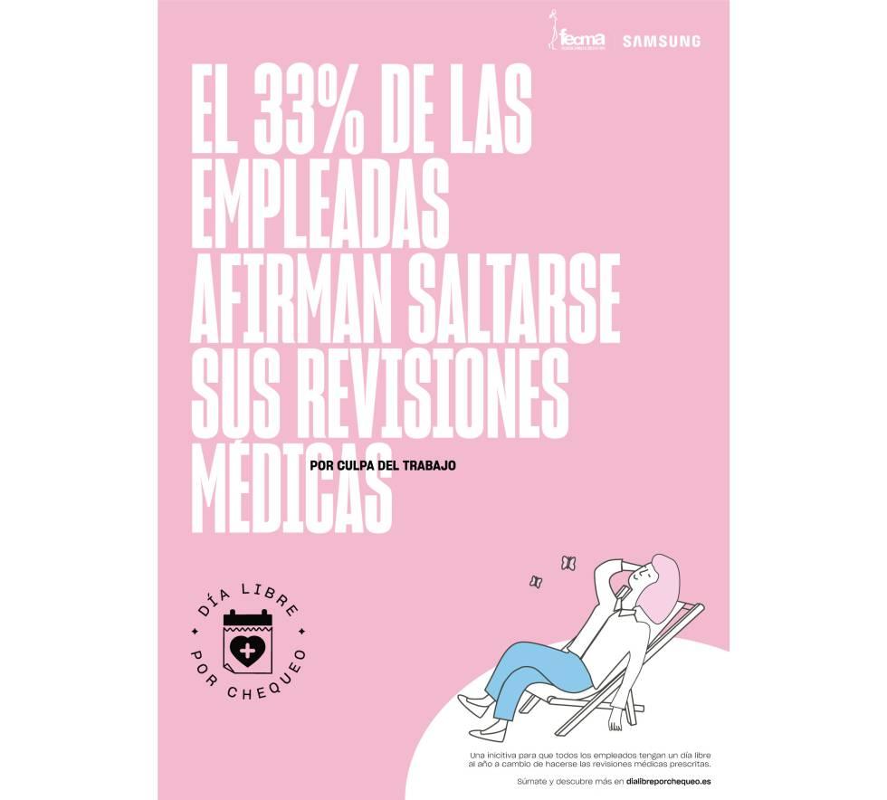 Iniciativa de FECMA y Samsung para luchar contra el cáncer de mama.