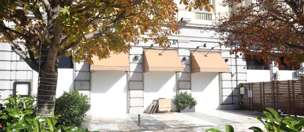 Negocio de restauración cerrado en Madrid.