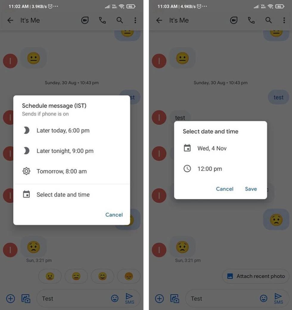 Nuevo modo de programación de mensajes en Android.