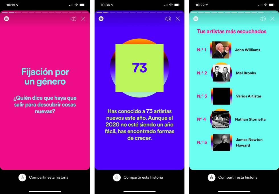 Spotify Wrapped 2020: ¿Qué es lo que más has escuchado en 2020? Spotify te  lo resume en el móvil   Lifestyle   Cinco Días