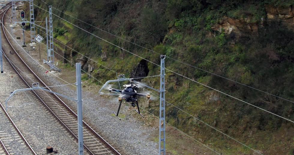 Drones para la vigilancia de la red ferroviaria.