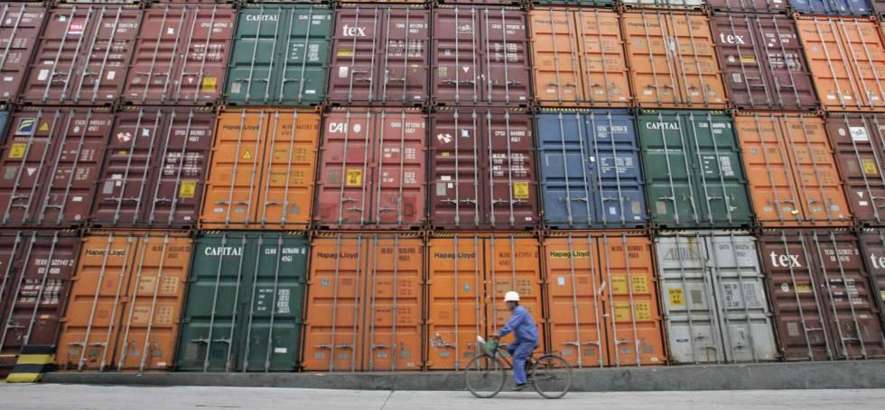 Contenedores en el Puerto de Shangai