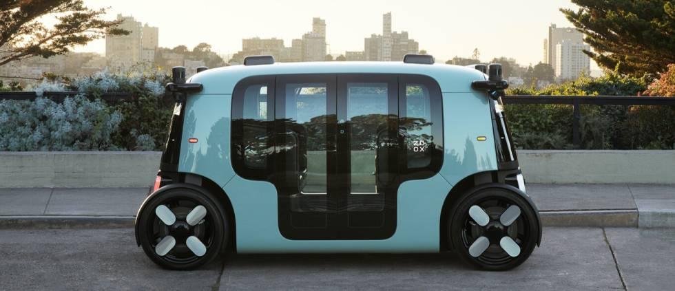 Aspecto exterior del Zoox, el vehículo autónomo de Amazon  Zoox.