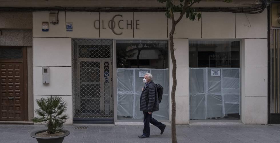 Comercio cerrado en la localidad jienense de Linares.