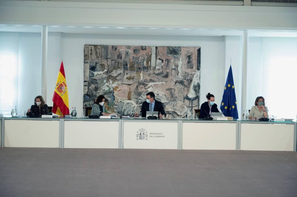 Consejo de Ministros, celebrado en el palacio de la Moncloa, en Madrid.