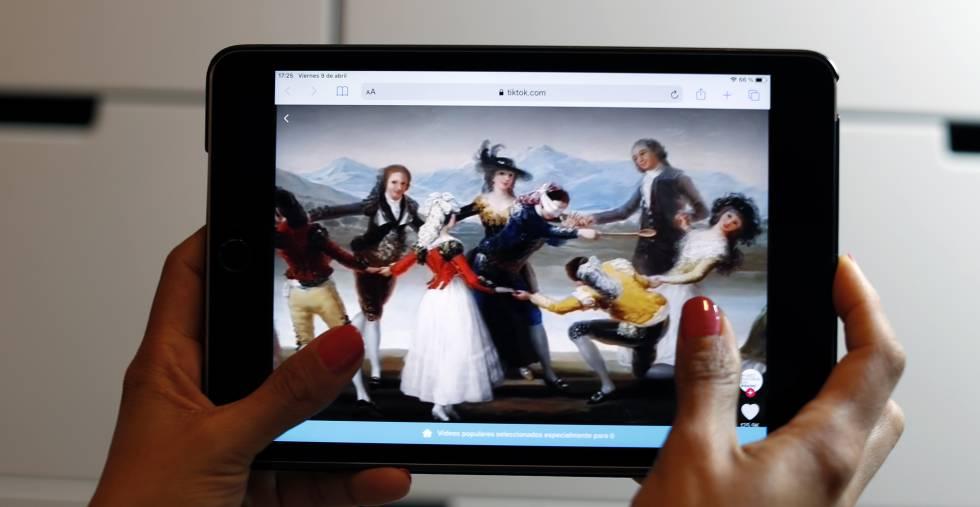 Imagen de un vídeo del Museo del Prado en Tik Tok
