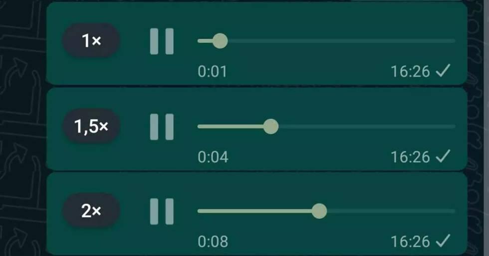 WhatsApp: cómo cambiar la velocidad de reproducción de los audios