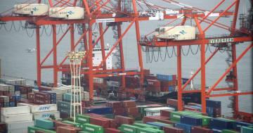Puerto de almacenamiento industrial.