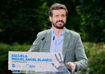 The president of the PP, Pablo Casado.