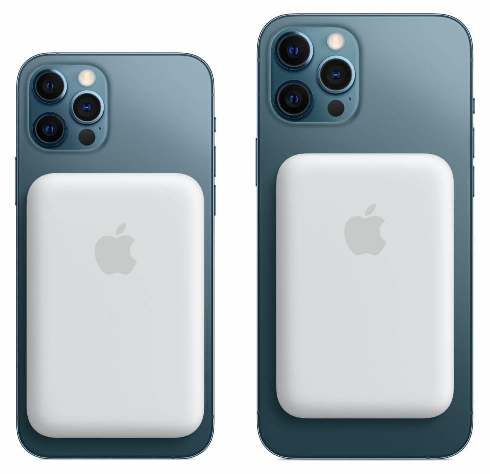 Batería MagSafe en los iPhone 12 Pro.