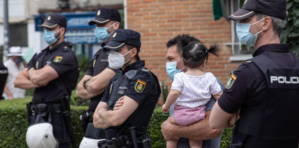 Desahucio en Fuenlabrada, Madrid.