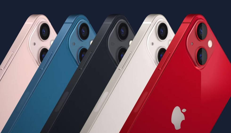 Gama de colores de iPhone 13.