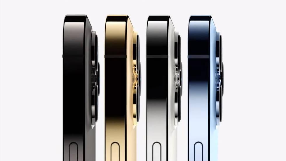 Gama de colores de los nuevos iPhone 13 Pro.
